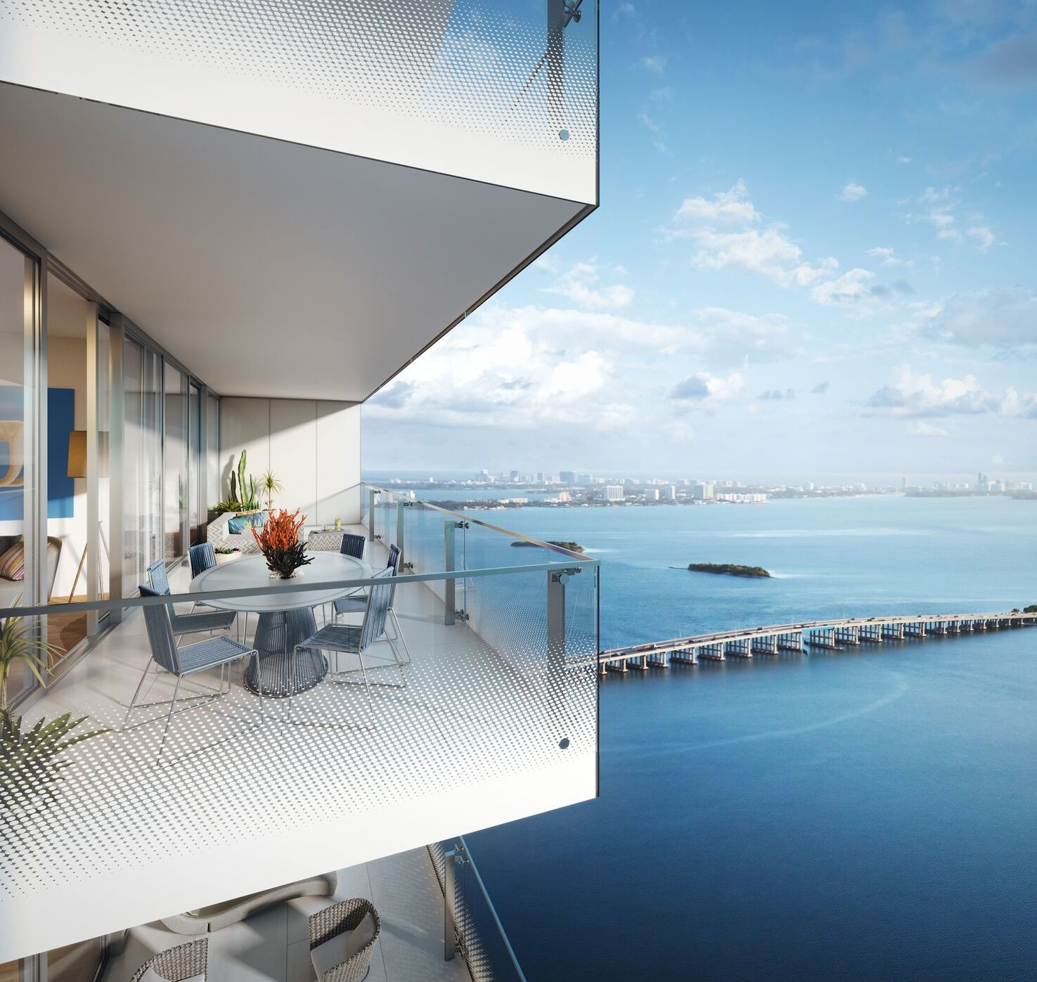 Missoni Baia miami condo preconstruction Edgewater balcony